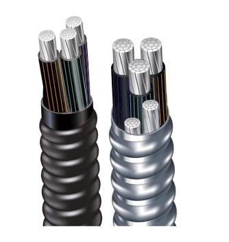 交联聚乙烯绝缘铝合金带连锁铠装铝合金电力电缆